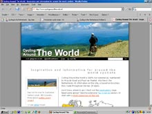 our cycling around the world website